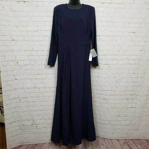 Flawed Kay Unger Bethany Dress Stretch Crepe Gown